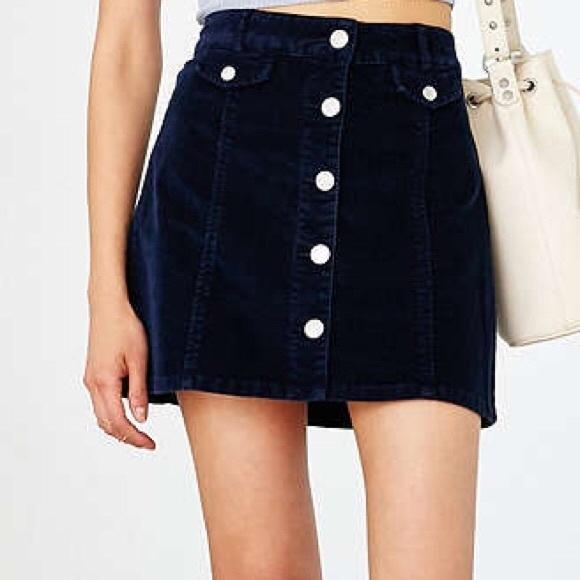 450d19fc1 BDG Skirts | Denim Aline Corduroy Mini Skirt Size 4 | Poshmark